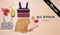 B.C STOCK WOMEN ALL 75%OFF(ベーセーストック)のセールをチェック