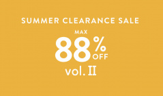 SUMMER CLEARANCE SALE MAX88%OFF Ⅱのセールをチェック