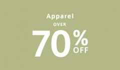 19F_4_9_OVER 70%OFF apparelのセールをチェック