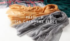 PREMIUM CASHMERE 100% STOLE -FINAL SALE-のセールをチェック