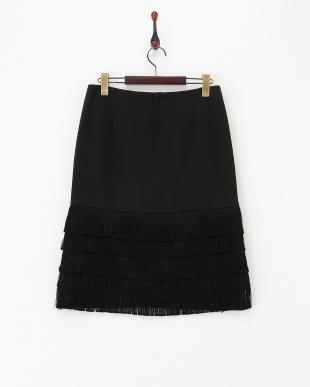 クロ ブラック フリンジスカートを見る