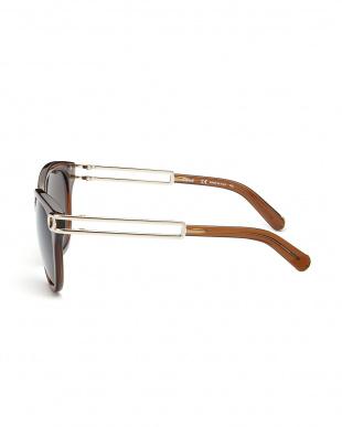 ブラウン メタル使いコンビネーションサングラスを見る