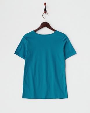 ターコイズ スーピマコットン メタリックブレードTシャツを見る