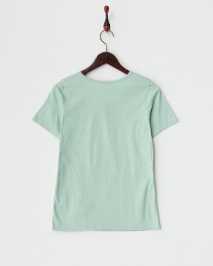 ミント スーピマコットン メタリックブレードTシャツを見る
