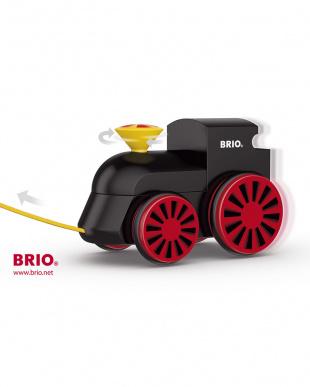 黒 木製蒸気機関車見る