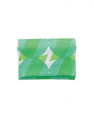 sunny グリーン ICカードも収納可能な外ポケット付き ネームカードケースを見る