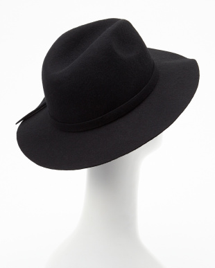 19 BLACK B:フェルトリボン付HAT見る