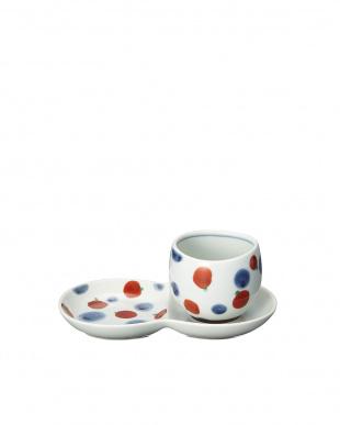 レッド しゃぼん猫ミニ碗皿を見る