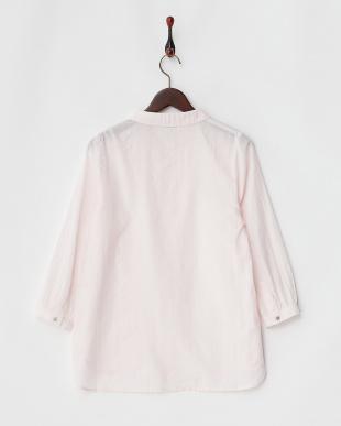 ライトピンク ピンストライプ リネン混シャツを見る
