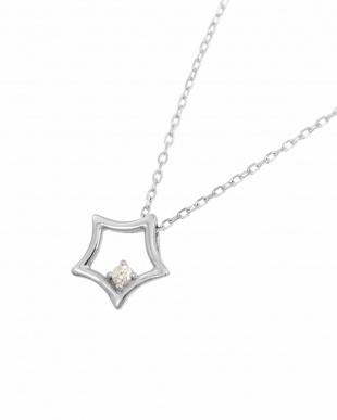 K18WG 天然ダイヤモンド ネックレス・スターを見る