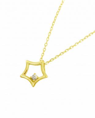K18YG 天然ダイヤモンド ネックレス・スターを見る
