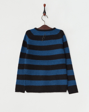 BLUE ブルー CALVI ボーダー柄セーター見る