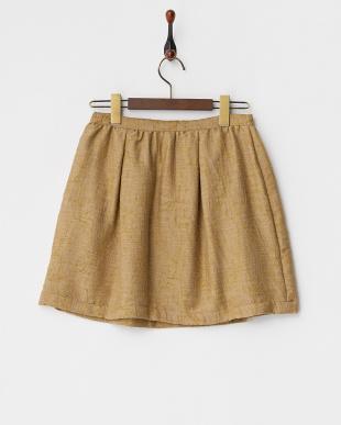 BEIGE ペイズリー柄刺繍スカート見る