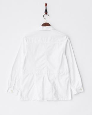 シロ ホワイト バックサテンミリタリージャケットを見る