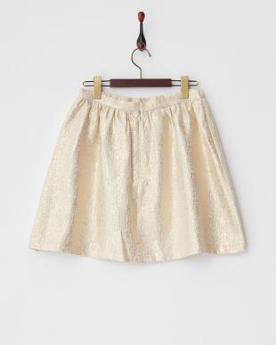 051 ゴールド ラメジャガード ギャザースカートを見る