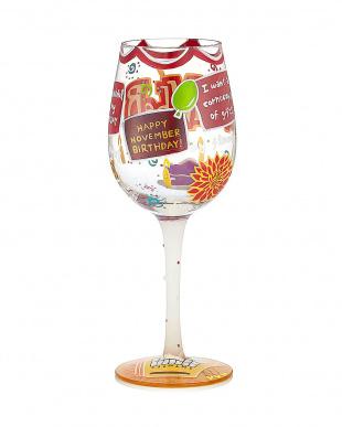 Happy Novemberワイングラスを見る