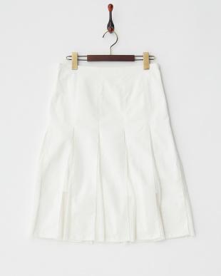 ホワイト プリーツチュールコンビスカートを見る