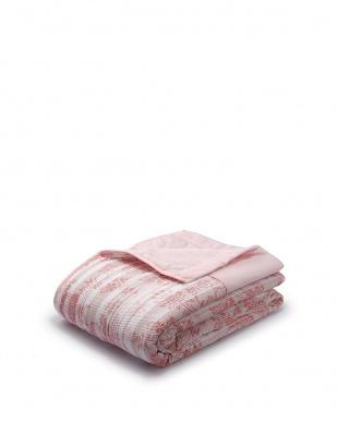 ピンク 洗える 合繊肌掛けふとん見る