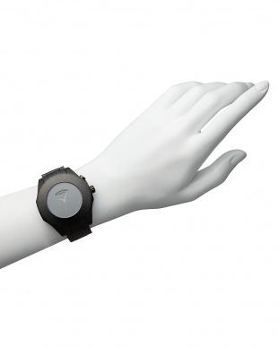 ブラック×ブラック 腕時計 RM003-1513SS Harmony見る