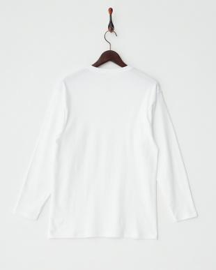 ホワイト 9分袖シャツ見る