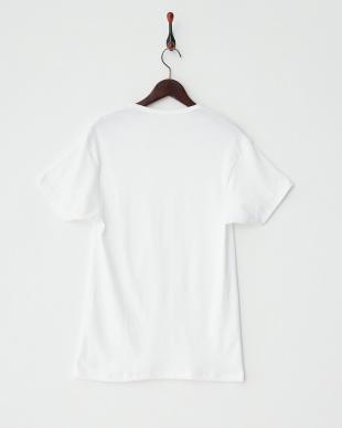 ホワイト VネックTシャツ見る