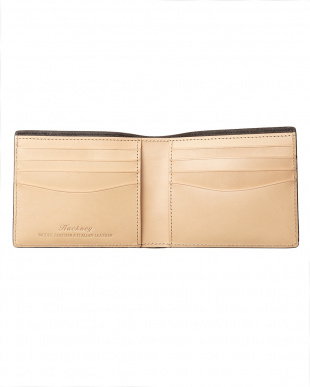 ネイビー クレイトン社製ブライドルレザー2つ折り財布(小銭入れなし)を見る