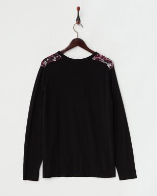 BLACK パープル系×ブラック  MIRTILLO Knitted Jacket見る