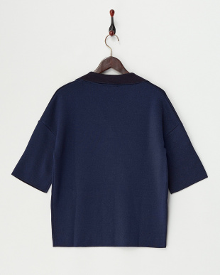 MIDNIGHT NAVY MAIORCA Knitted Jacket・ラメ混見る