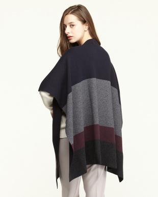 DARK GREY AFELIO Knitted shawl見る