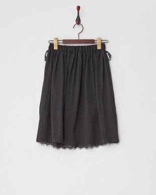 ブラック レース×無地リバーシブル フレアスカートを見る