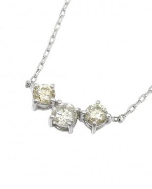SV 天然ダイヤモンド 0.3ct スリーストーン SVネックレスを見る
