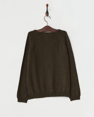 NAVY ネイビー LEON 刺繍デザインセーターを見る