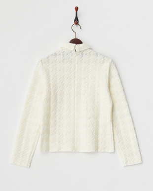 IVORY HOUNDSTOOTH LACE TOPを見る