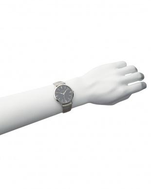 シルバーカラー×ブラック×シルバーカラー T-1601 腕時計 A見る