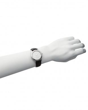 ゴールドカラー×ホワイト×ゴールドカラー T-1602 腕時計 B見る