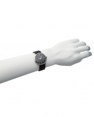 シルバーカラー×ピーコックブルー×シルバーカラー T-1605 腕時計 A見る