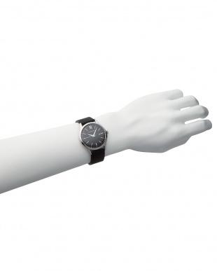ピンクゴールドカラー×ピーコックブルー×ピンクゴールドカラー T-1605 腕時計 B見る