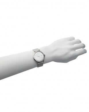 ピンクゴールドカラー×ピーコックブルー×ピンクゴールドカラー T-1605SS 腕時計 B見る