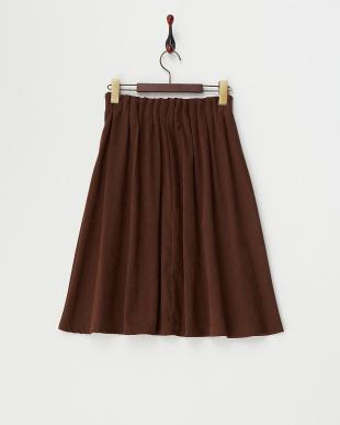 ブラウン タックウエスト スカートを見る
