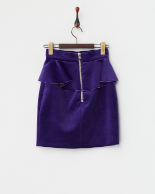 VIOLET フリルベルベットタイトスカートを見る