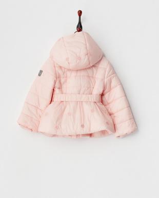ピンク ドット刺繍中綿コート12M~見る