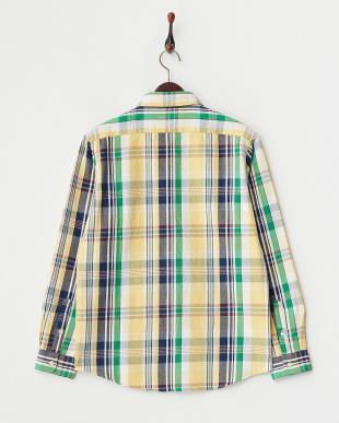 イエロー ヘビーフランネルチェックシャツ見る