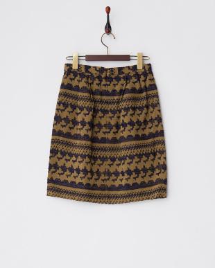 ベージュ ブリュットジャガードスカートを見る
