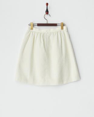 ホワイト ビット使い チェックジャガードスカートを見る