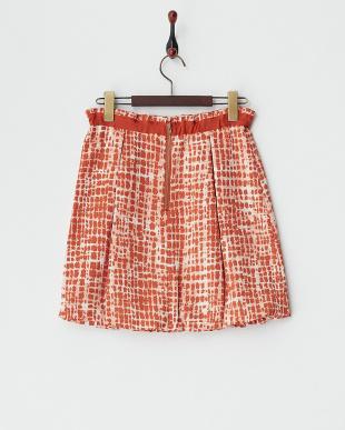 レッド メロンパンダプリントスカート見る