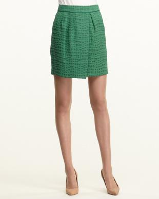 グリーン ブライトオールドジャカードスカート見る
