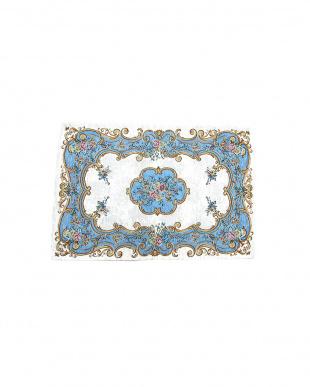 ブルー ROMA 65×90  イタリア製マット見る
