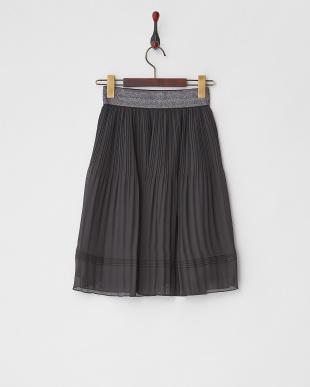ブラック ラメゴムシフォンスカートを見る