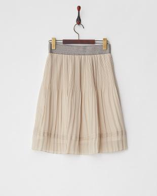 ベージュ ラメゴムシフォンスカートを見る