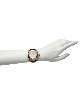 ホワイト/ブラック ホワイト×ブラック MIAMI パテントマテラッセレザーベルト腕時計見る
